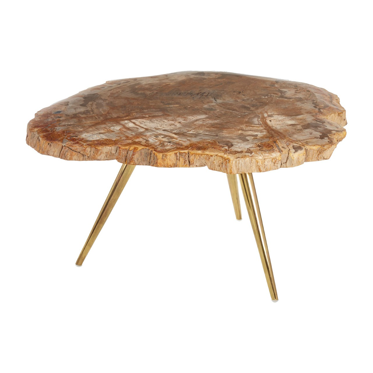 - Relic Petrified Wood Coffee Table - CASTLE LIGHTING & INTERIORS